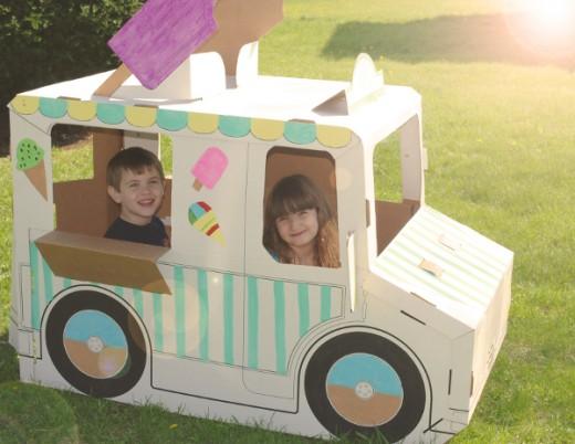 Kids LOVE the Build A Dream Playhouse.  Built it. Color it.  Unlimited Imagination.