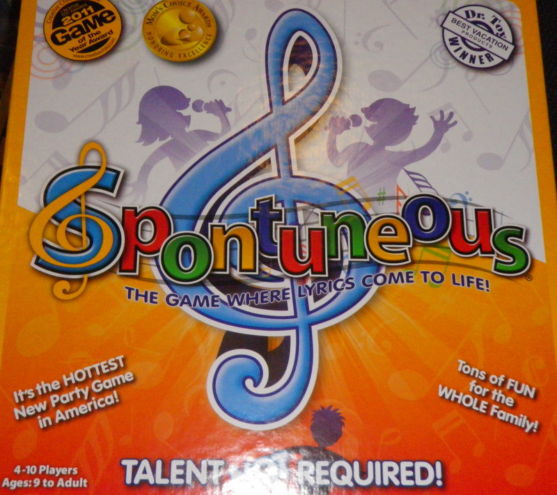 Spontuneous!!  The Board Game That Has You Singing!