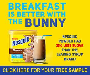 Free Sample of Nesquik #Freebie