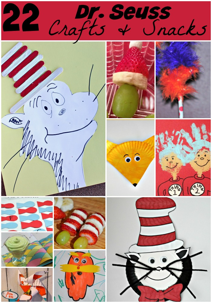 22 Dr Seuss Food & Craft Ideas #CatInTheHat