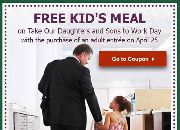 Kids Eat Free- Olive Garden