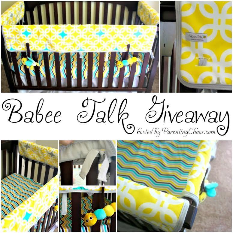 Babee Talk Organic Crib Bedding #GIVEAWAY