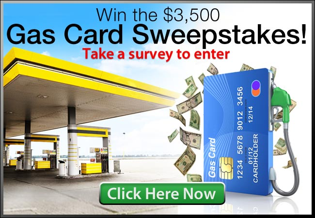 $3500 Gas Card Sweeps With Cool Surveys