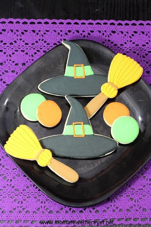 Witches Hat & Brooms Cookies
