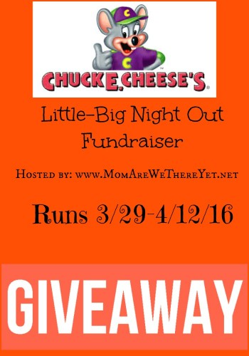 chuck e cheese giveaway