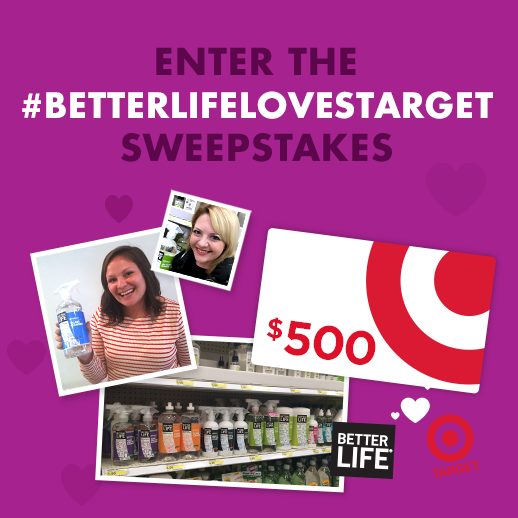 Enter To Win Target's Better Life Cleaners Sweepstakes