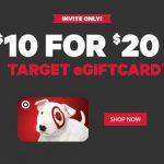 Get A $10 for a $20 Target eGiftCard