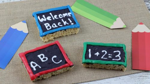 chalk board rice krispie treats
