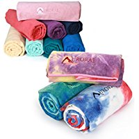 aurorae aqua yoga towel