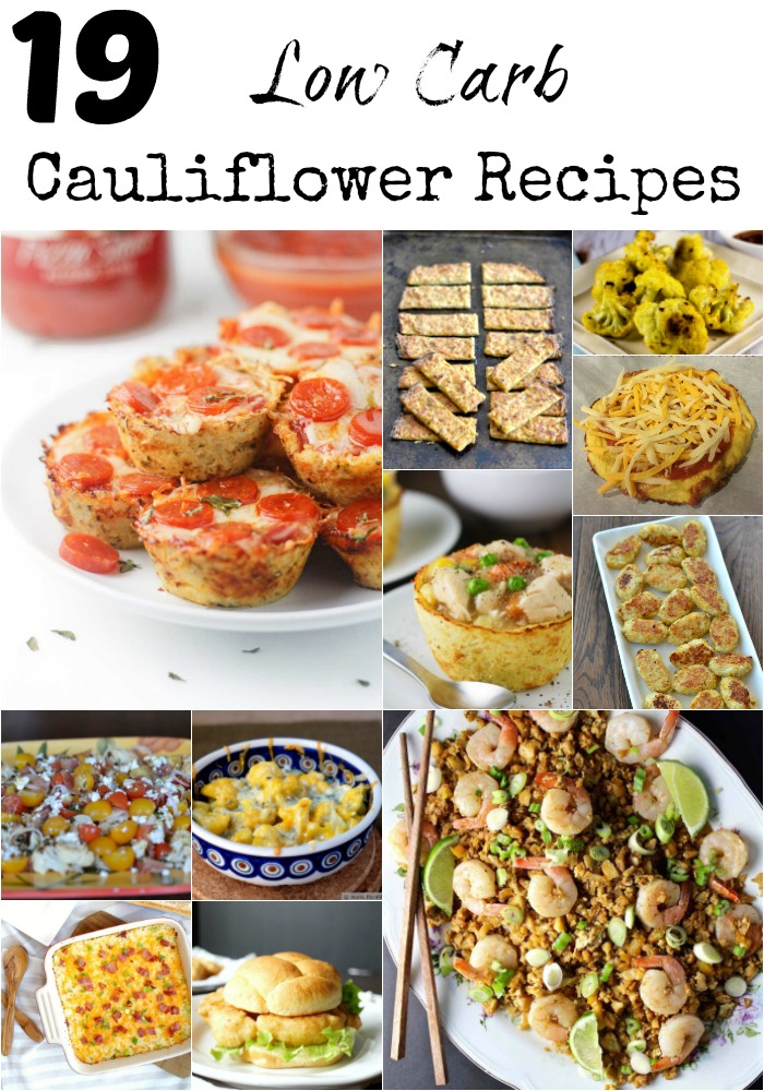 low carb cauliflower recipes
