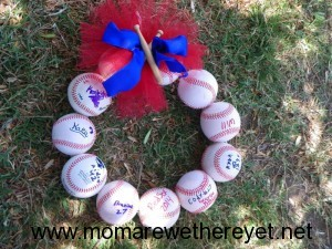 Baseball Wreath DIY Coach Gift