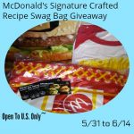 McDonald's Signature Crafted Recipe Swag Bag Giveaway