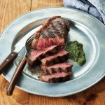 New York Strip Steaks with Basil-Arugula Pesto Recipe