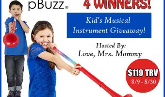 pBuzz Kid's Musical Instrument Giveaway