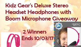 Kidz Gear's Deluxe Stereo Headset Headphones with Boom Microphone Giveaway