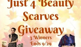 Just 4 Beauty Scarves Giveaway 3 Winners