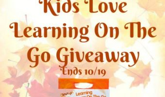 Kids Love Learning On The Go Giveaway