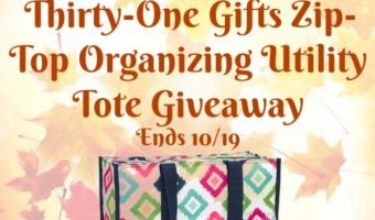 Thirty-One Gifts Zip-Top Organizing Utility Tote Giveaway