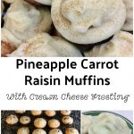 Pineapple Carrot Raisin Muffins With Cream Cheese Frosting Recipe