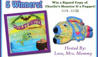 Signed Copy of Charlie's Monster & A Puppet-5 Winner Giveaway