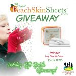 The PeachSkinSheets.com Holiday Giveaway!