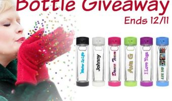 Glasstic Water Bottle Giveaway Ends